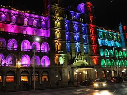 Windsor Hotel celebrates with colour and light