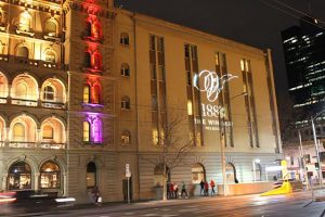 resolution_X_projects_Windsor_hotel_50th_gobo_projection
