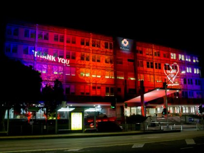 Projecting Our Gratitude for #LightUniteAus