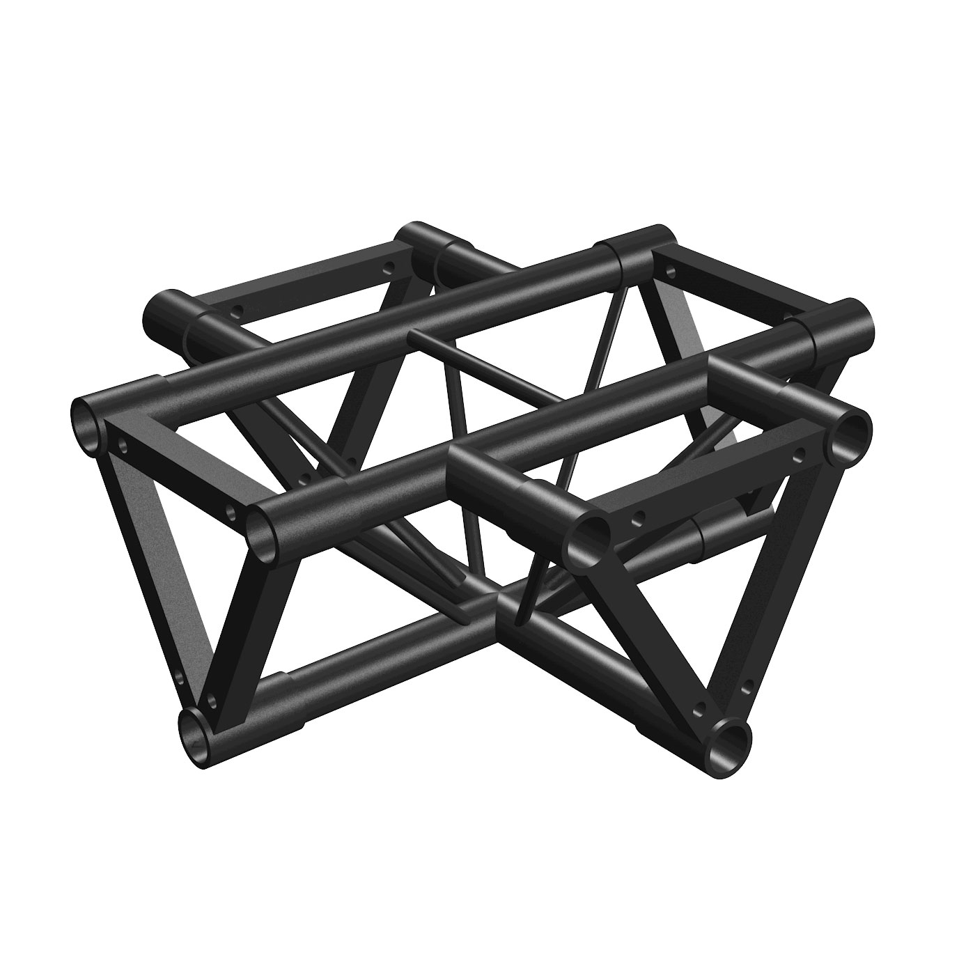 Tri Truss Black 4-way Horizontal Corner